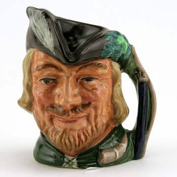 Robin Hood New D6534 (Bone China) - Small - Royal Doulton Character Jug