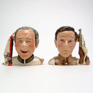 Sid James and Charles Hawtrey D7162 & D7163 - Small - Royal Doulton Character Jug