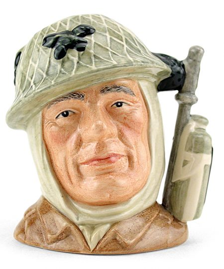 Soldier D6876 - Small - Royal Doulton Character Jug