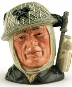 Soldier D6905 (with red patch on canteen) - Small - Royal Doulton Character Jug