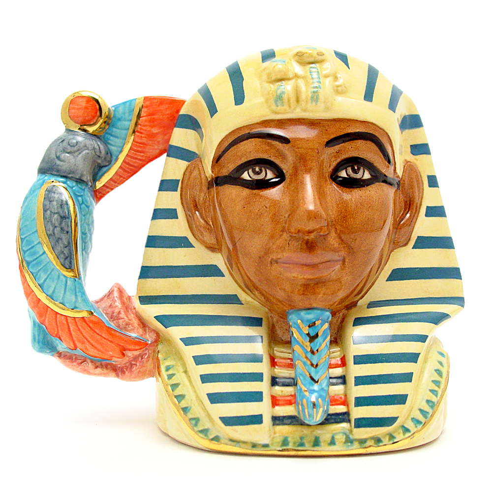 Tutankhamen D7127 - Small - Royal Doulton Character Jug