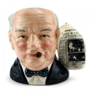 Winston Churchill D6934 (News Chronicle Victory Handle) - Small - Royal Doulton Character Jug