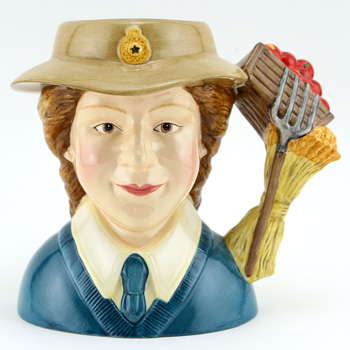 Women's Land Army D7206 - Small - Royal Doulton Character Jug