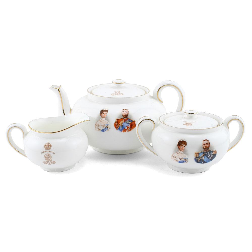 George V and Mary Tea Set - Royal Doulton Commemoratives