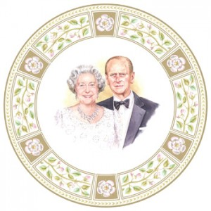 Queen Elizababeth &amp Prince Philip 60th Anniversary - Royal Doulton Commemoratives