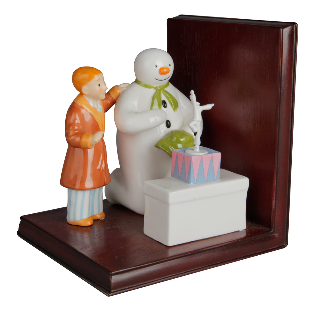 Bookend - Coalport Snowman
