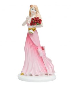 I Love You Red Rose - Coalport Figurine