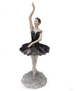 Odette The Black Swan - Coalport Figure