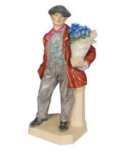 Cinneraria Boy Brown Jacket - Charles Vyse - Charles Vyse Figurine