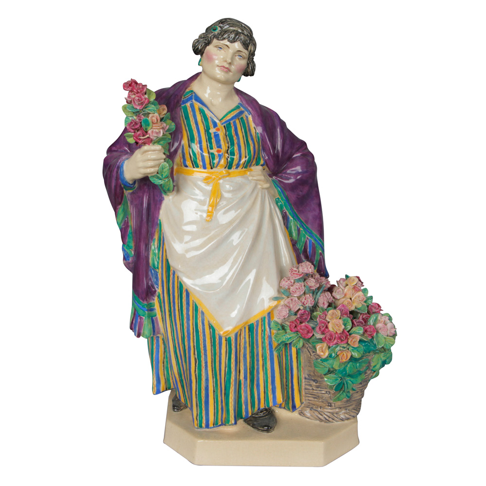 Daffodil Woman with Roses - Charles Vyse c.1925 - Charles Vyse Figurine