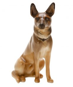 Alsatian Seated (natural color HN899 - Royal Doulton Dogs