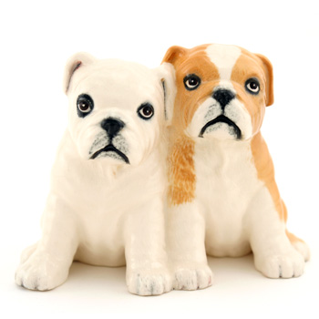 Bulldog Pups DA248 - Royal Doulton Dogs