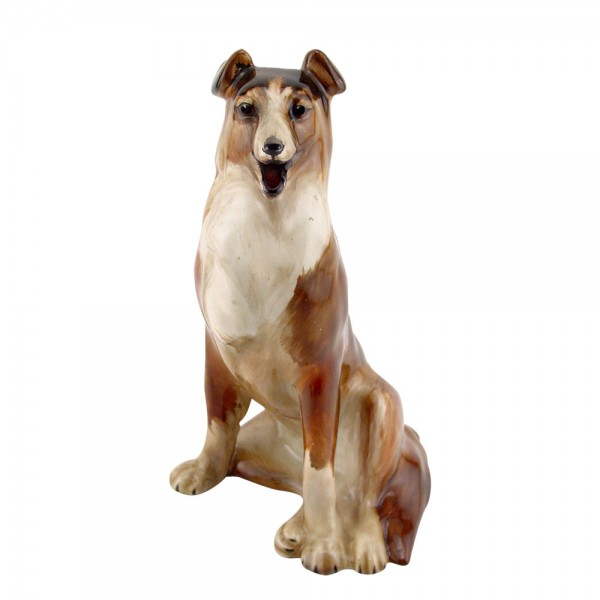Collie Seated Brown HN105 - Royal Doulton Dogs