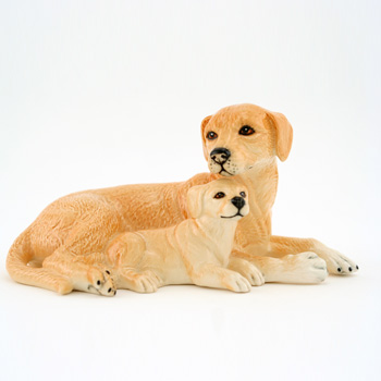 Labrador and Pups DA168 - Royal Doulton Dogs