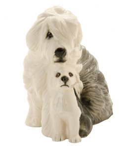 Sheepdog and Pup DA176 - Royal Doulton Dogs
