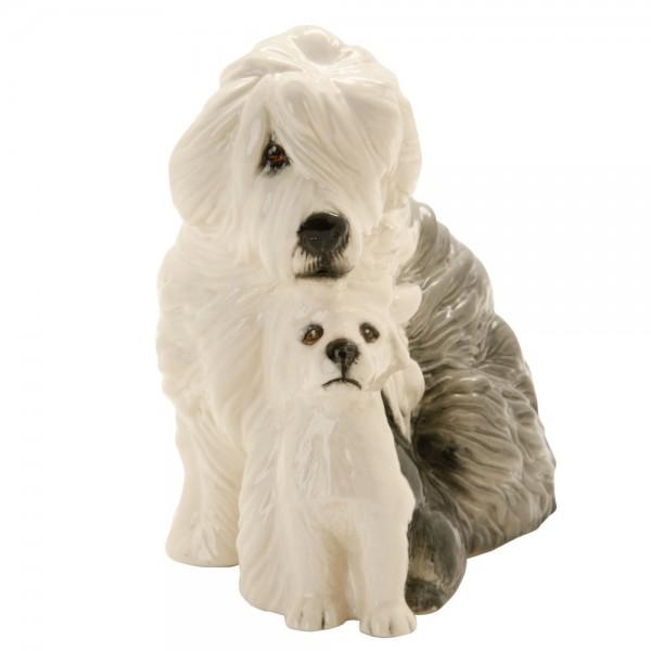 Sheepdog and Pup DA176 - Royal Doulton Dogs