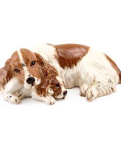 Spaniel and Pup DA174 - Royal Doulton Dogs