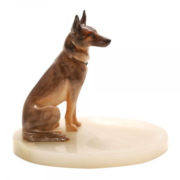 Alsatian Seated on Dish - Royal Doulton Dogs