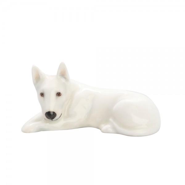Bull Terrier Lying K14 White - Royal Doulton Dog