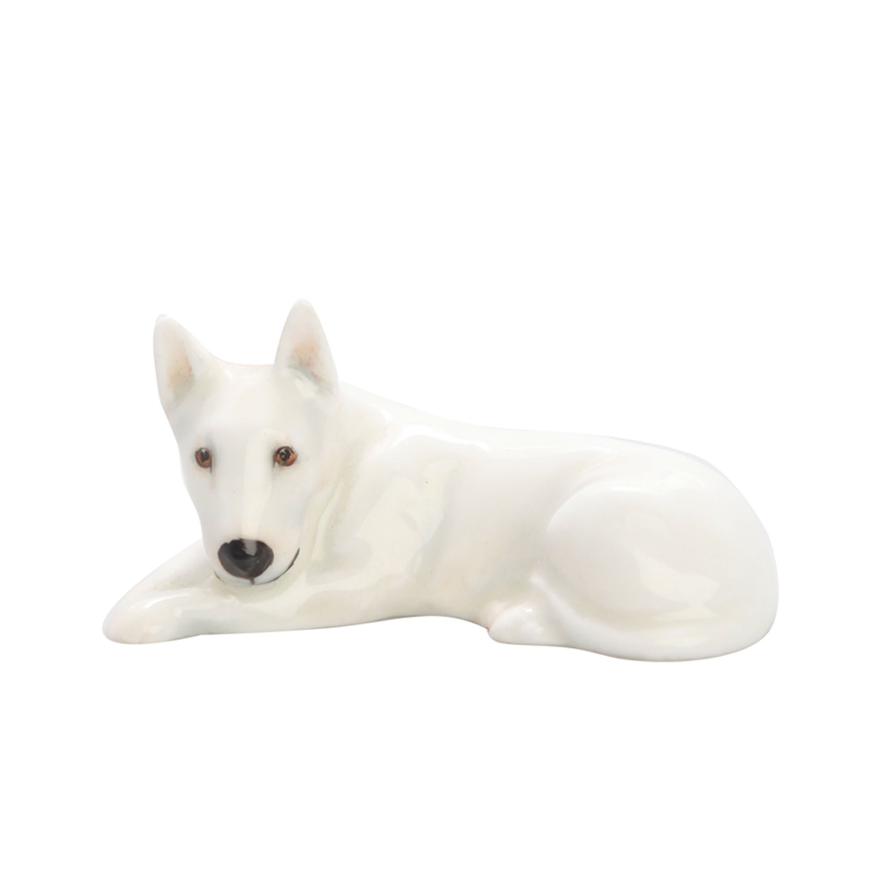 Bull Terrier Lying K14 White - Royal Doulton Dog