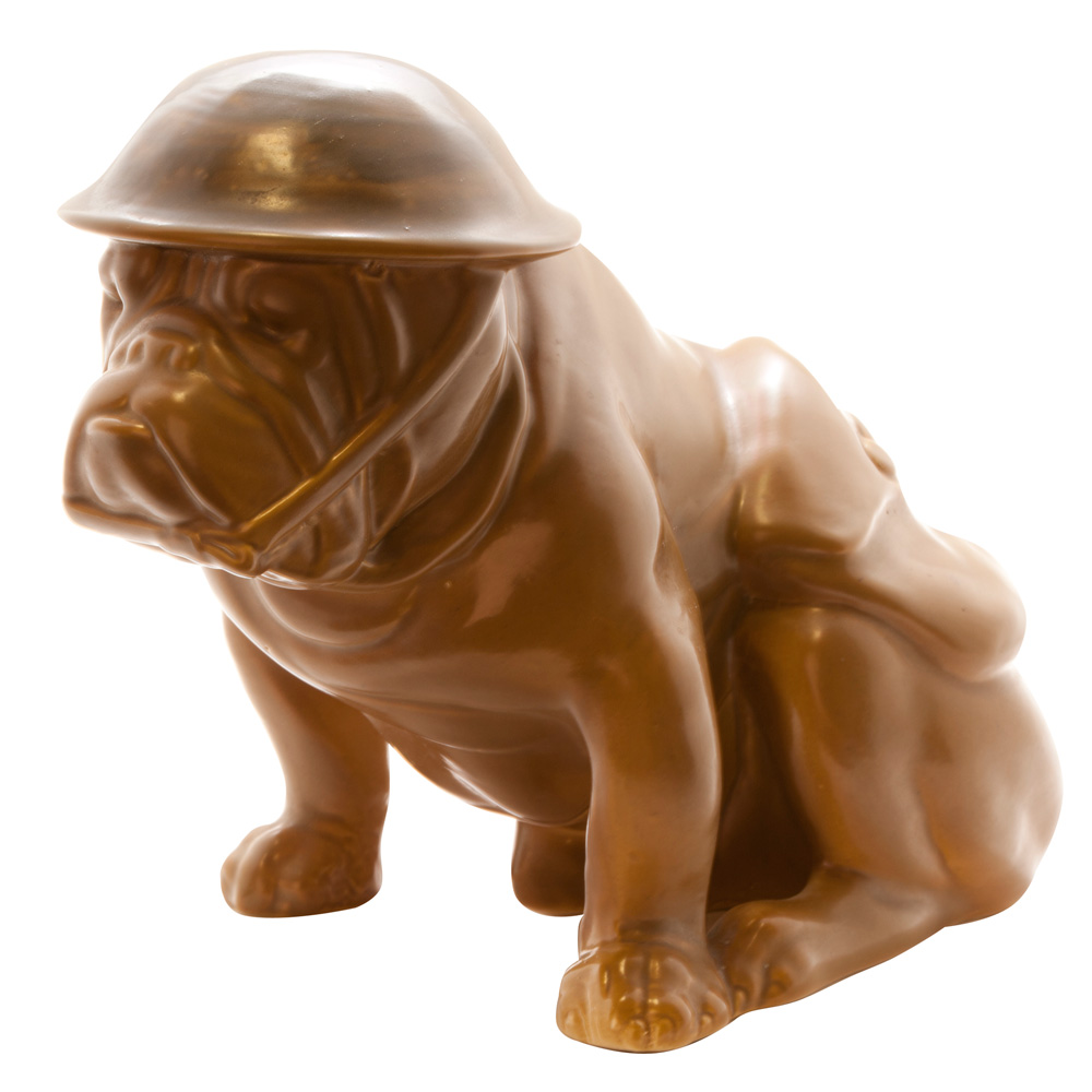 "Bulldog with Helmet & Haversack ""Old Bill"" - Royal Doulton Dog"