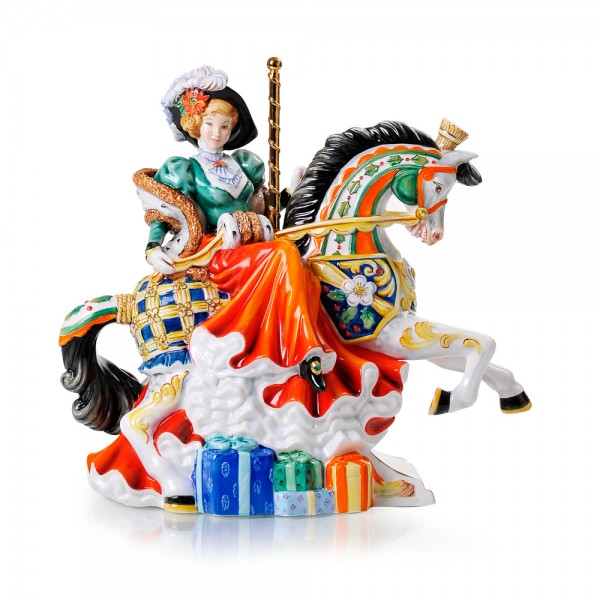 Christmas Carousel - Musical - English Ladies Company Figurine