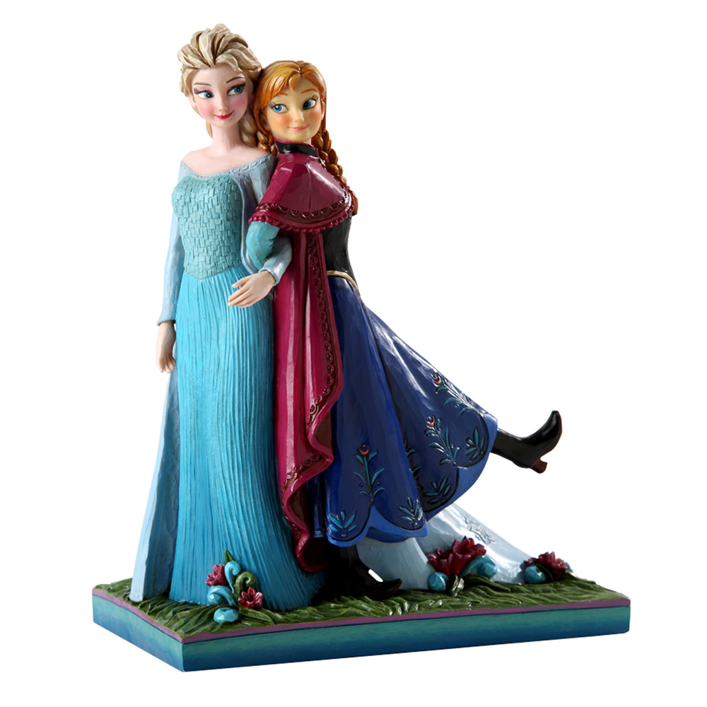 """Anna and Elsa - """"Sisters Forever"""" (Frozen) - Jim Shore Figures"""