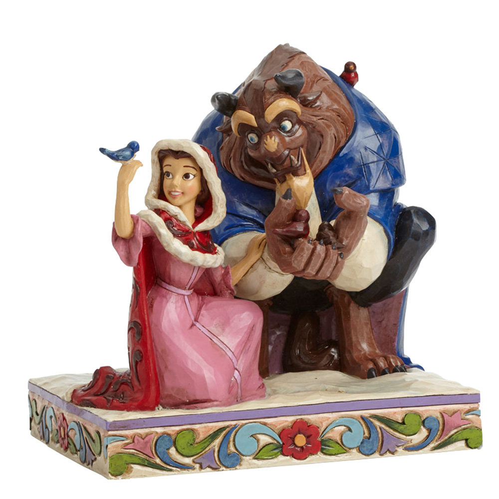 "Belle and Beast - ""Something There"" (Beauty and the Beast) - Jim Shore Figures"