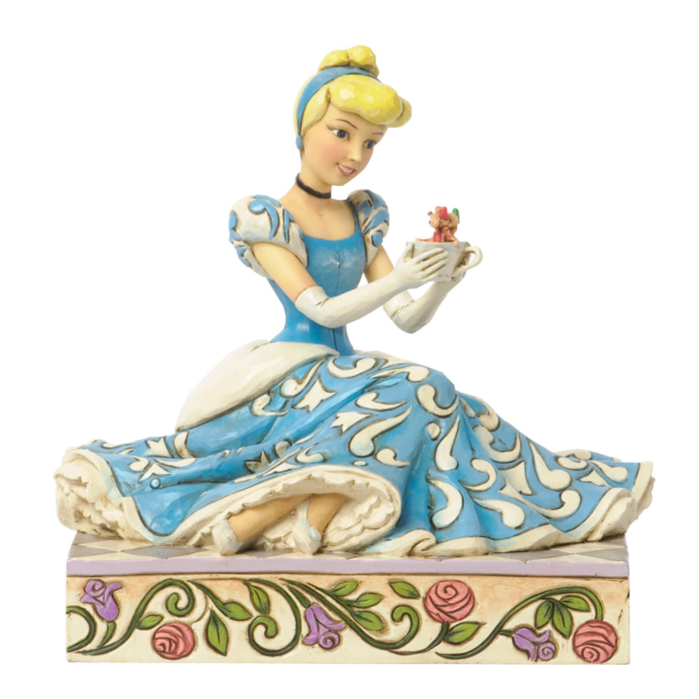 "Cinderella with Jaq and Gus - ""Caring and Courageous"" - Jim Shore Figures"