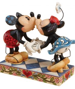 "Mickey Kissing Minnie Mouse - ""Smooch For My Sweetie"" - Jim Shore Figures"