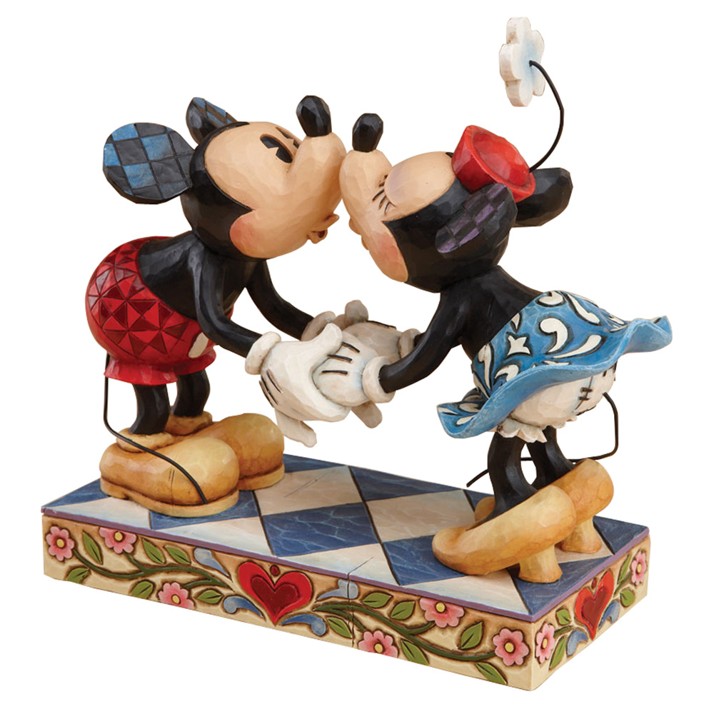 """Mickey Kissing Minnie Mouse - """"Smooch For My Sweetie"""" - Jim Shore Figures"""