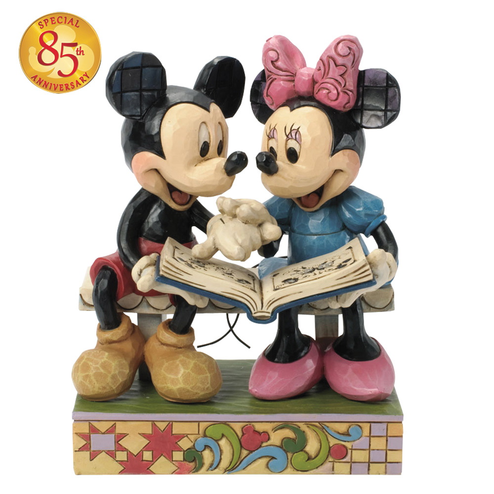 "Mickey & Minnie Mouse 85th Anniversary Figure - ""Sharing Memories"" - Jim Shore Figures"