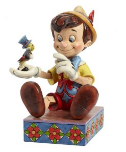 "Pinocchio and Jiminy Cricket - ""Just Give a Little Whistle"" (Pinocchio) - Jim Shore Figures"