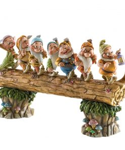 "Seven Dwarfs on Log - ""Homeward Bound"" (Snow White) - Jim Shore Figures"