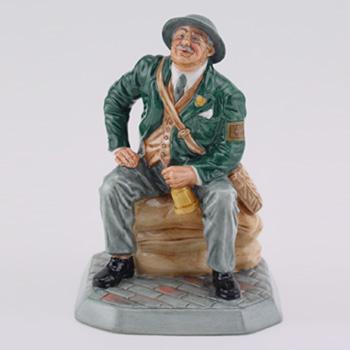 Air Raid Precaution Warden HN4555 - Royal Doulton Figurine