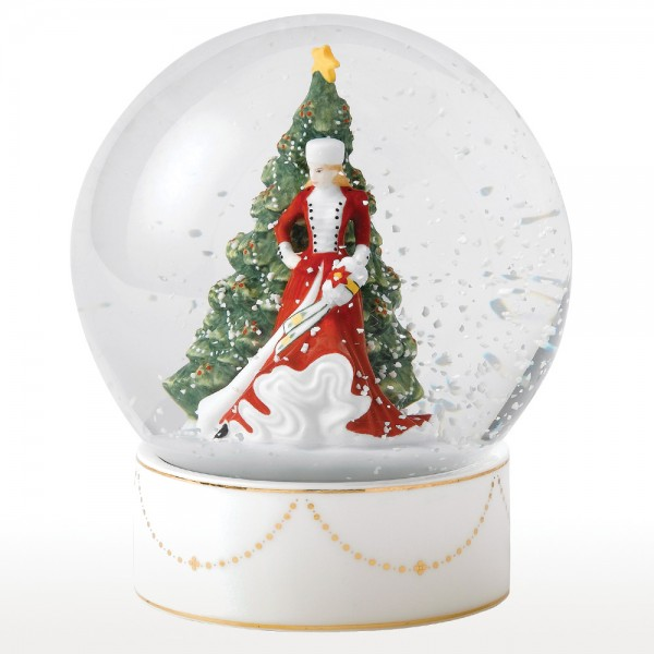 Christmas Day Snow Globe HN5523 - Royal Doulton Figurine