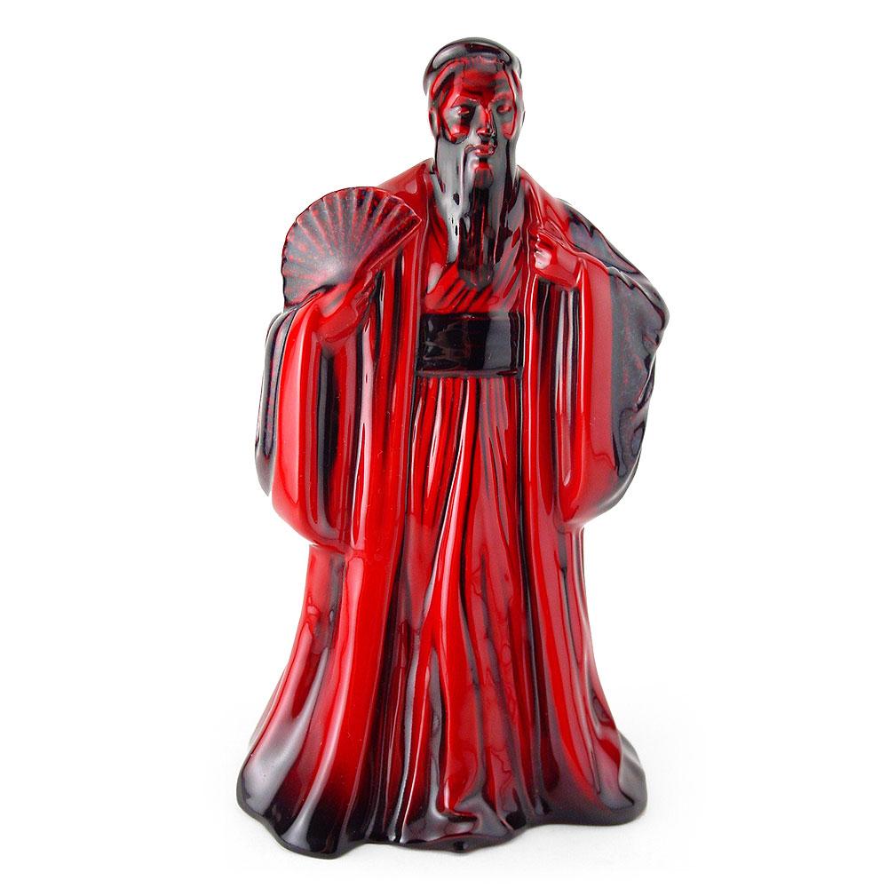 Confucius HN3314 (Flambe) - Royal Doulton Figurine