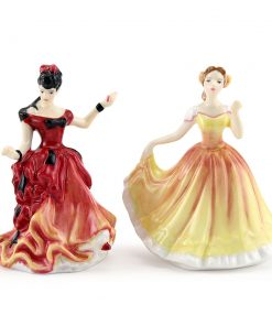 Deborah M253 and Belle M254 - Royal Doulton Figurine