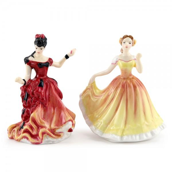 Deborah M253 and Belle M254 - Royal Doulton Figurine