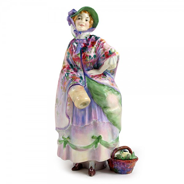 Dolly Vardon HN1515 (red & lavender) - Royal Doulton Figurine
