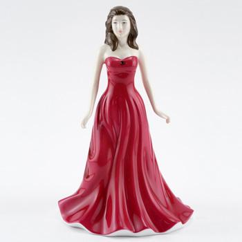 January HN4970 (Garnet) - Royal Doulton Figurine