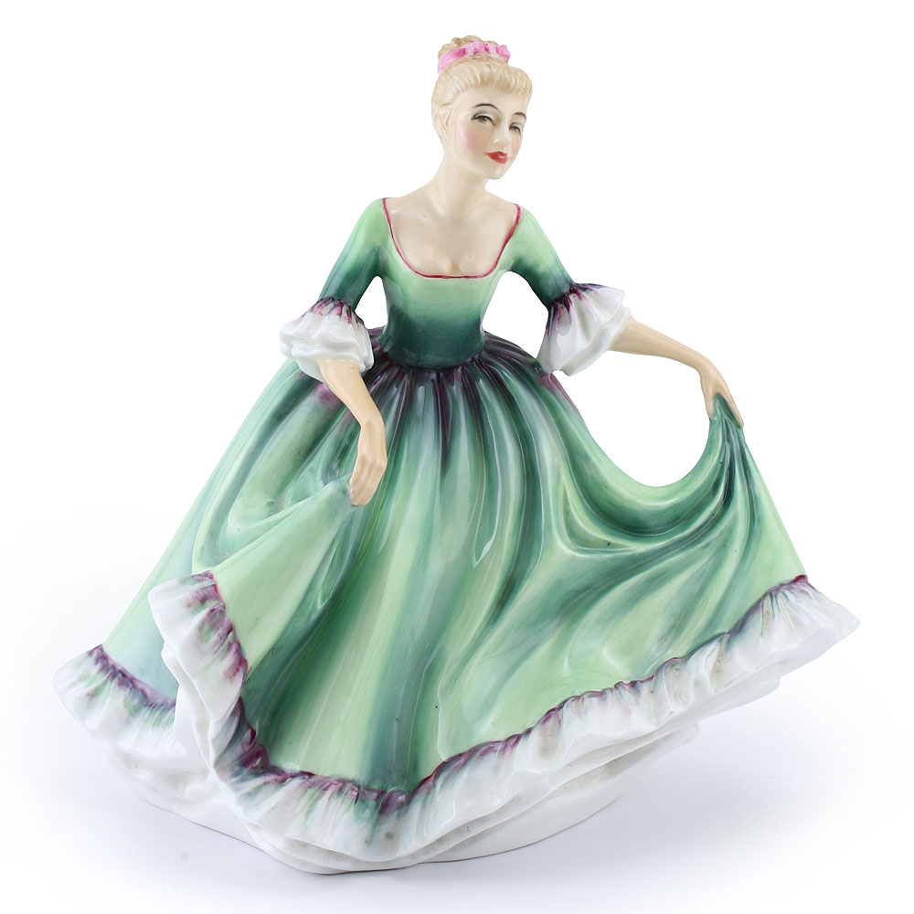 Lady in Green Dress PTP - Royal Doulton Figurine