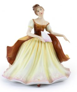 Lady with Fan BRWN PTP - Royal Doulton Figurine