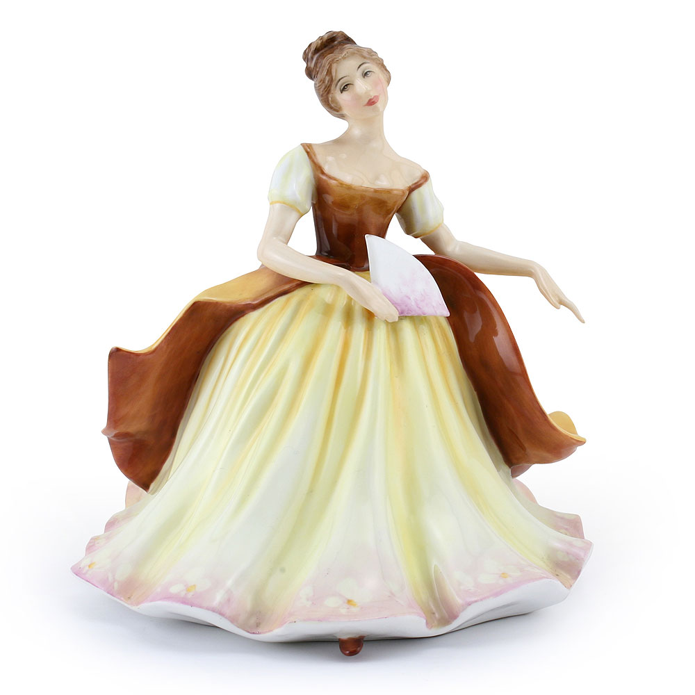 Lady with Fan BRWN PTP - Royal Doulton Figurine