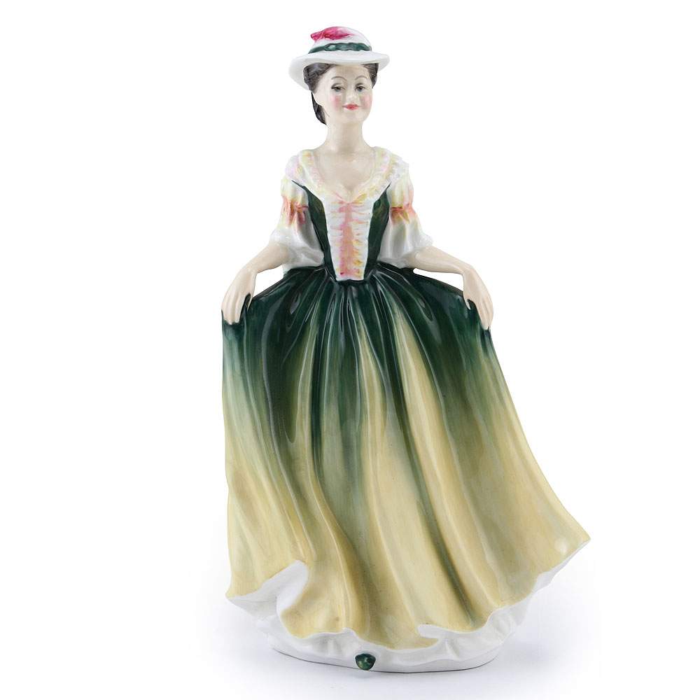 Lady with Hat GRN PTP - Royal Doulton Figurine