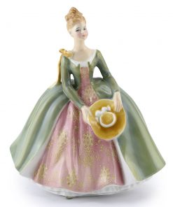 Lady with Yellow Ribbon PTP - Royal Doulton Figurine