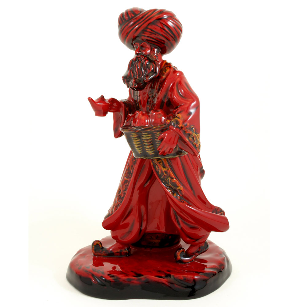 Lamp Seller HN3278 (Flambe) - Royal Doulton Figurine