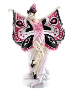 Peacock HN4889 (Pink, Black) - Royal Doulton Figurine