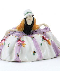 Polly Peachum Rare Color Variation (Floral, lavender stripes) - Royal Doulton Figurine