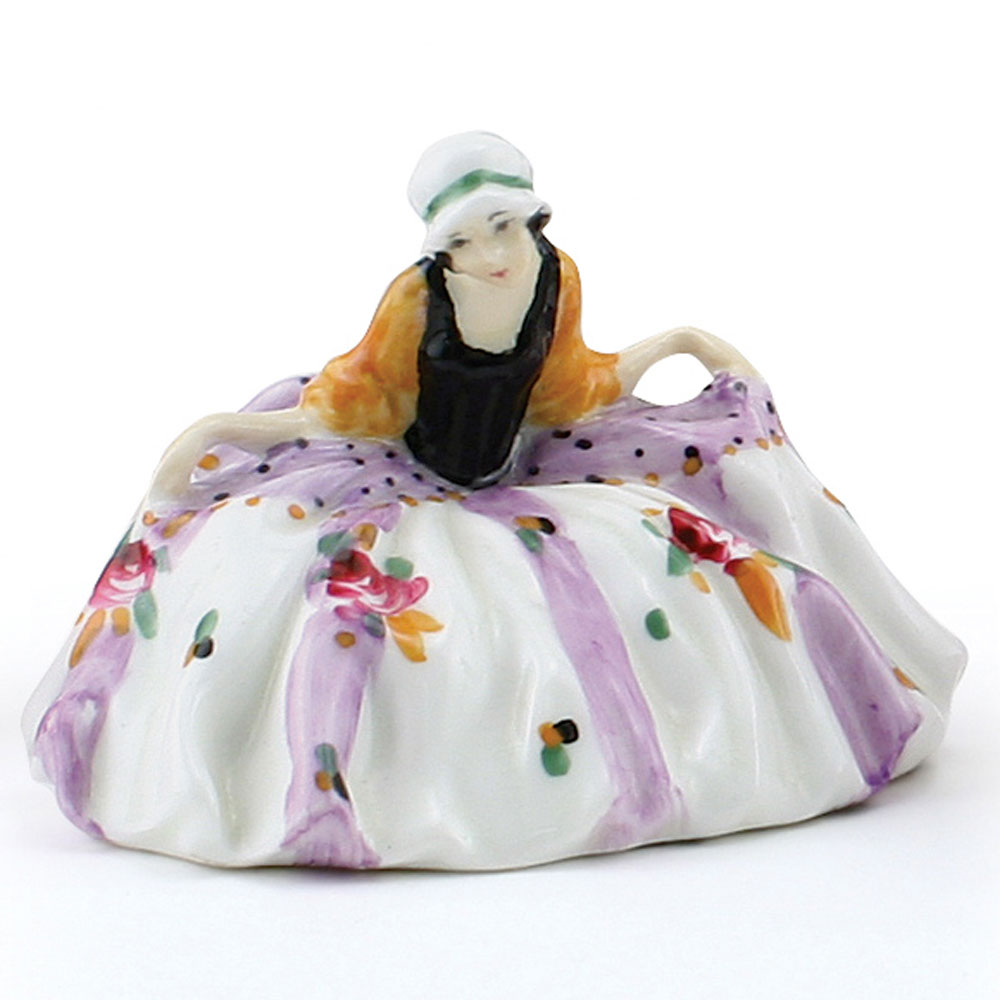 Polly Peachum Rare Color Variation (Floral, lavender stripes) - Royal Doulton Figurine